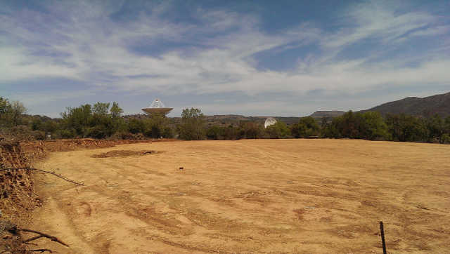 View of the site after bulk cut & fill