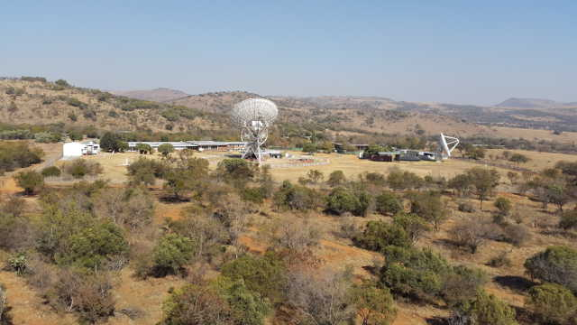 View of HartRAO from the VGOS site