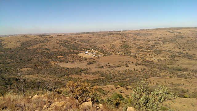 View from hilltop overlooking HartRAO